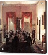 Jlm-1820-henry Sargent-the Dinner Party Henry Sargent Acrylic Print