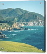 Western Usa Pacific Coast In California Acrylic Print