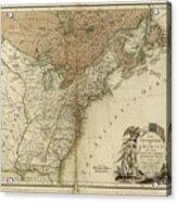 1783 United States Of America Map Acrylic Print