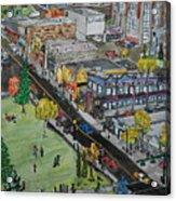 17th Ave Calgary Acrylic Print
