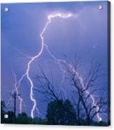 17th Street Lightning Strike Fine Art Photo Acrylic Print