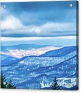 Beautiful Nature And Scenery Around Snowshoe Ski Resort In Cass  Acrylic Print