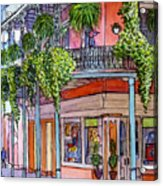 18  French Quarter Art Gallery Acrylic Print