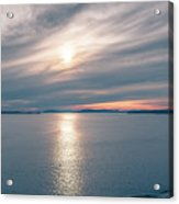 Sunset Over Alaska Fjords On A Cruise Trip Near Ketchikan Acrylic Print
