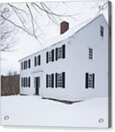 1800 White Colonial Home Acrylic Print