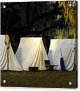 1800s Army Tents Acrylic Print