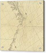 1807 North America Coastline Map Acrylic Print