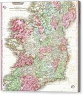 1818 Pinkerton Map Of Ireland Acrylic Print