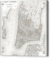 1839 New York City Map Acrylic Print