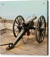 1841 Model Six Pounder Cannon At Fort Mackinac Acrylic Print