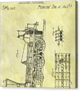 1845 Locomotive Patent Acrylic Print