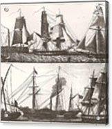 1850 European Sailing Ship Acrylic Print