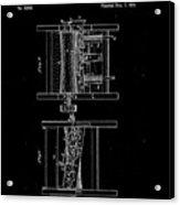 1854 Corn Sheller Patent Drawing Acrylic Print