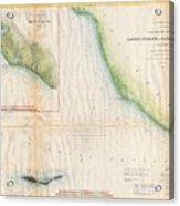 1857  Coast Survey Map Of The Eastern Entrance To Santa Barbara Channel Acrylic Print