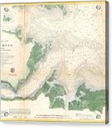1857 U.s. Coast Survey Map Or Chart Of The Entrance To The York River, Virginia Acrylic Print