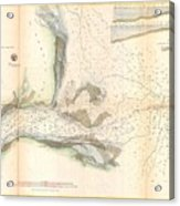 1857 U.s. Coast Survey Map Or Chart Of The Mouth Of St. Johns River, Florida Acrylic Print