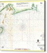 1859 U.s. Coast Survey Map Of Bull's Bay South Carolina Acrylic Print