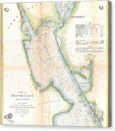 1865 Us Coast Survey Map Or Chart Of Providence Rhode Island Acrylic Print