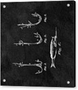 1867 Fishing Lure Patent Acrylic Print
