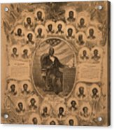 1868 Commemorative Photo Collage Acrylic Print by Everett