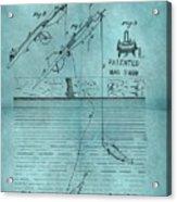 1868 Fishing Tackle Patent Blue Acrylic Print
