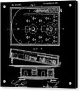 1871 Bagatelles Patent Drawing Acrylic Print