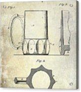 1873 Beer Mug Patent Acrylic Print
