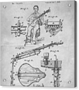 1873 Guitar Patent Blueprint Acrylic Print