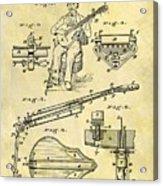 1873 Guitar Patent Acrylic Print