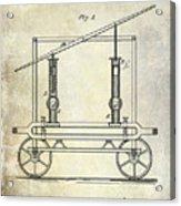 1875 Fire Extinguisher Patent Acrylic Print