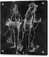 1876 Fireman Suit Patent Acrylic Print