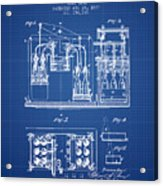 1877 Bottling Machine Patent - Blueprint Acrylic Print