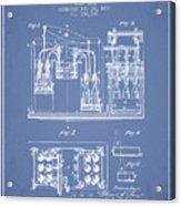 1877 Bottling Machine Patent - Light Blue Acrylic Print