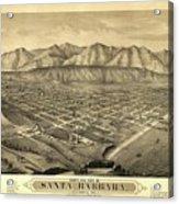 1877 Santa Barbara California Map Acrylic Print