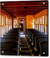 1880 Train Interior Acrylic Print