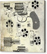 1881 Revolver Patent  Acrylic Print