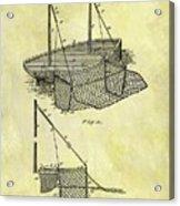 1882 Fishing Net Patent Acrylic Print