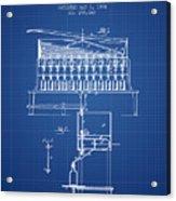 1884 Bottling Machine Patent - Blueprint Acrylic Print