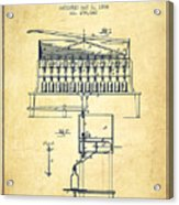 1884 Bottling Machine Patent - Vintage Acrylic Print