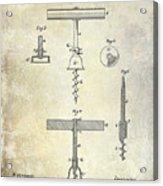1884 Corkscrew Patent Acrylic Print