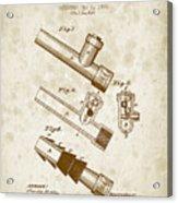 1885 Fire Escape Patent - Vintage Brown Acrylic Print