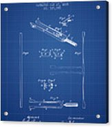 1885 Tuning Fork Patent - Blueprint Acrylic Print
