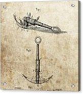 1887 Anchor Patent Acrylic Print