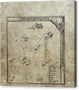 1887 Baseball Game Patent Acrylic Print