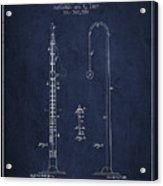 1887 Metronome Patent - Navy Blue Acrylic Print