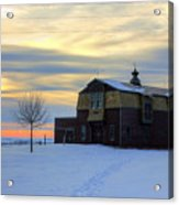 1888 Barn In Winter 02 Acrylic Print