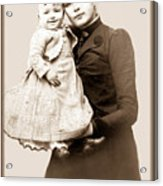 1888 Infant And Mother Acrylic Print by Tom Zukauskas