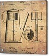 1889 Coffee Maker Patent Acrylic Print