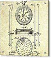 1889 Stop Watch Patent Art S. 1 Acrylic Print