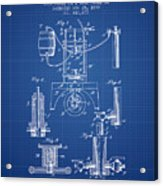 1890 Bottling Machine Patent - Blueprint Acrylic Print